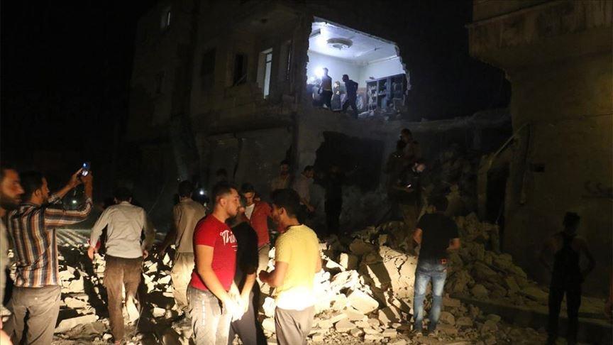 Suriye rejimi, SMO bölgesini bombaladı: 2 ölü, 5 yaralı!