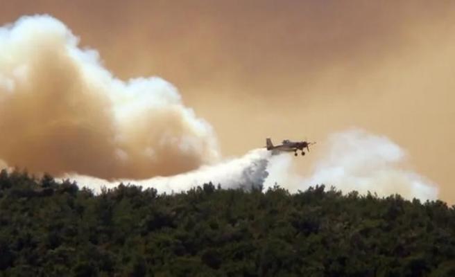 Yunanistan'da yangın söndürme uçağı düştü!