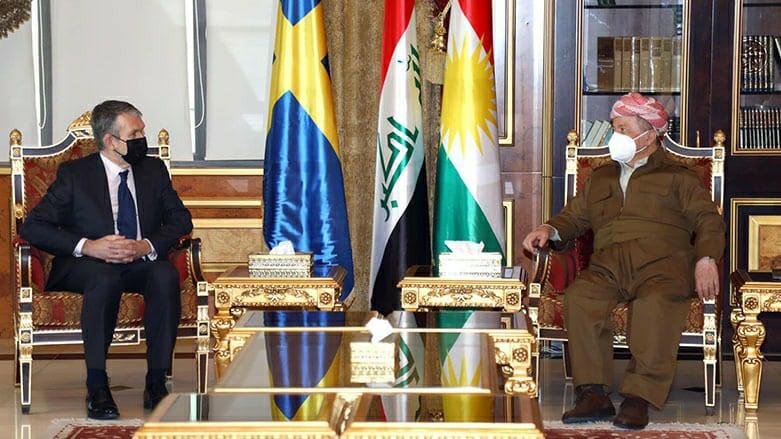 Başkan Barzani İsveç'in Bağdat Büyükelçisi Jonas Lovén'i kabul etti!