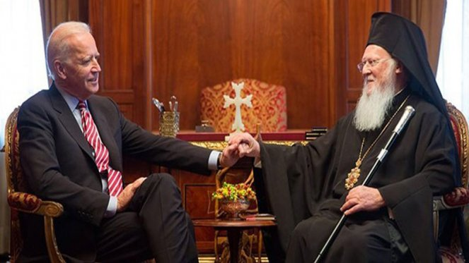 Biden, İstanbul Ortodoks Patrikhanesi Başpiskoposu ile görüştü!