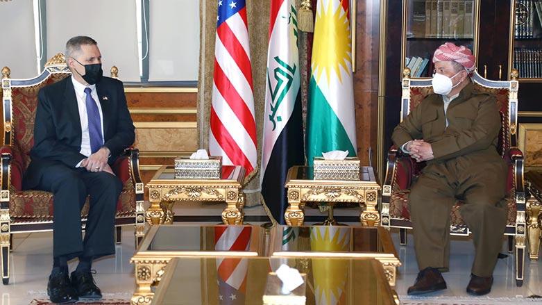 Başkan Barzani ile ABD'nin Bağdat Büyükelçisi Suriye ve Irak'ı ele aldı!
