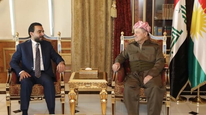Başkan Barzani, Irak Parlamento Başkanını kabul etti